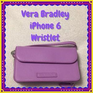 Vera Bradley Lavender IPhone 6 Wristlet